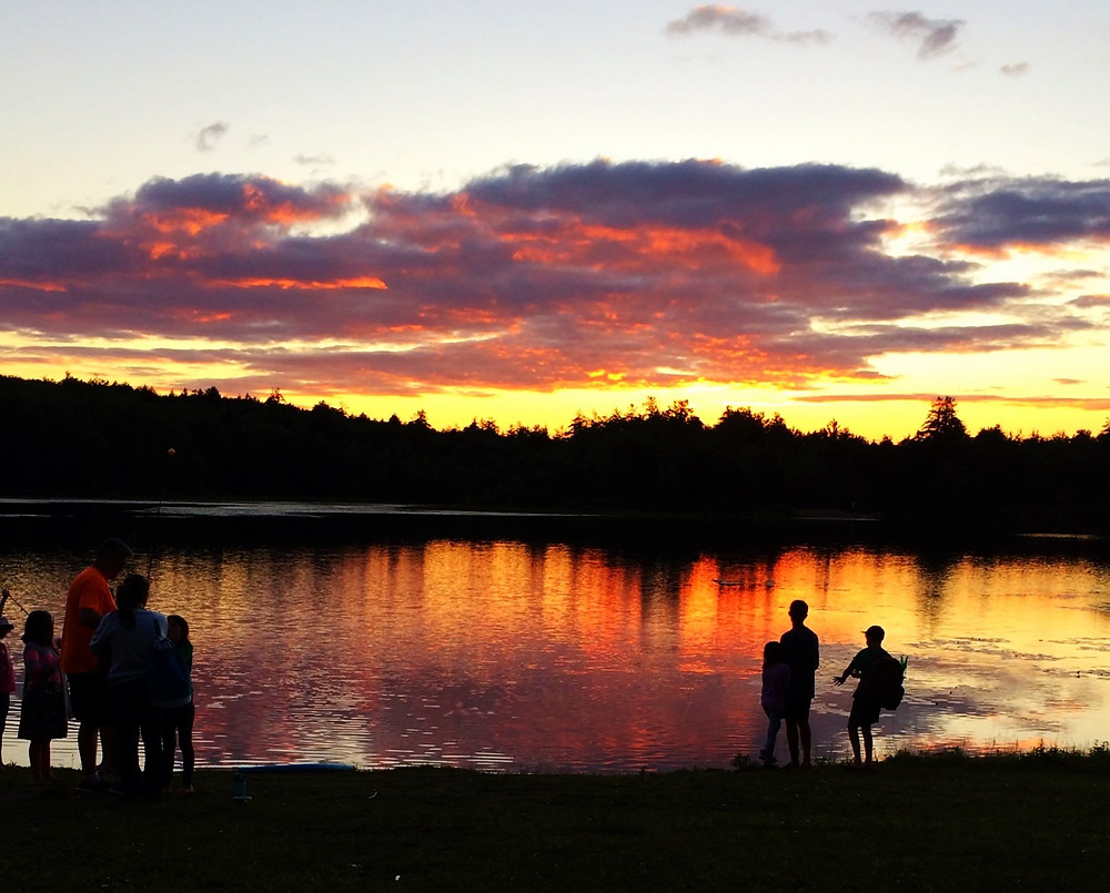 Another beautiful sunset at the home lake in Ellenville