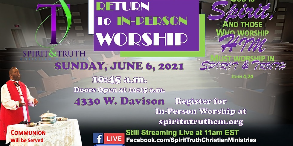 REturn to IN-person Worship