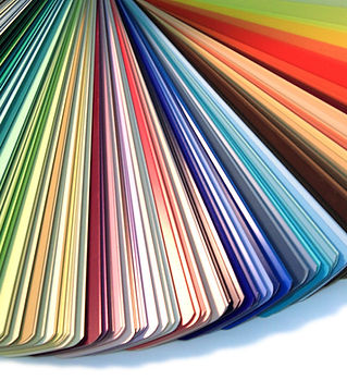 Paint Swatches, finish selections