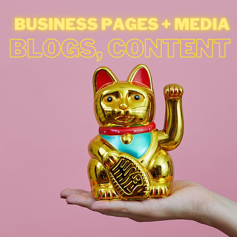 Buisness pages, media, blogs, and content
