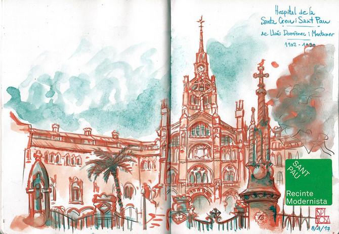 """Descubrir, dibujar; la pasión por el """"Sketching"""" en Barcelona"""