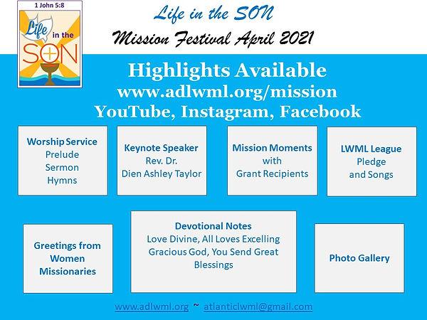 Mission Festival April 2021 - Highlights