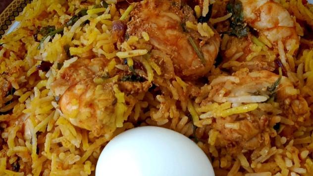 Hyderabadi Prawn Dum Biryani