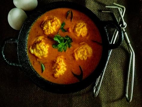 Muttai Paniyaram Kuzhambu/Egg gravy
