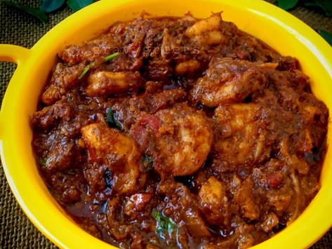 Prawns Curry Leaves Pepper Masala