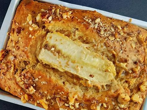 Eggless Banana Walnut Bread