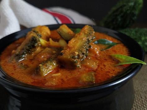 Pavakkaai Puli Kuzhambu/Bitter Gourd Curry