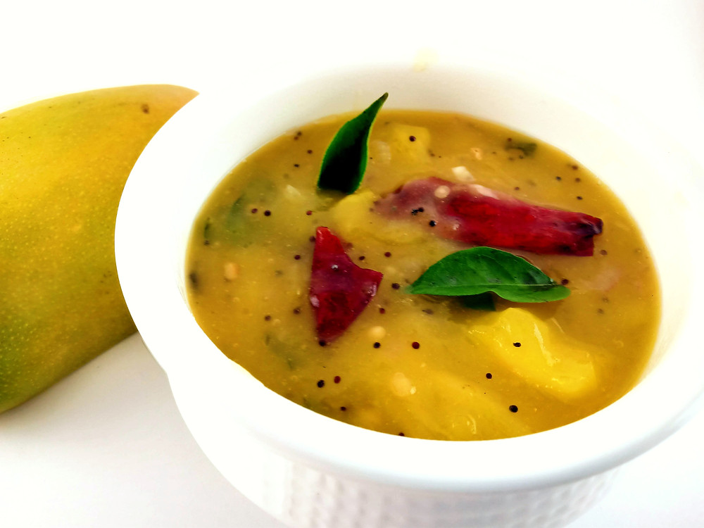 Tangy Sweet and Spicy Side dish made with mango
