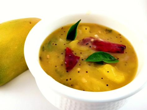 Raw Mango Pachadi/Maanga pachadi