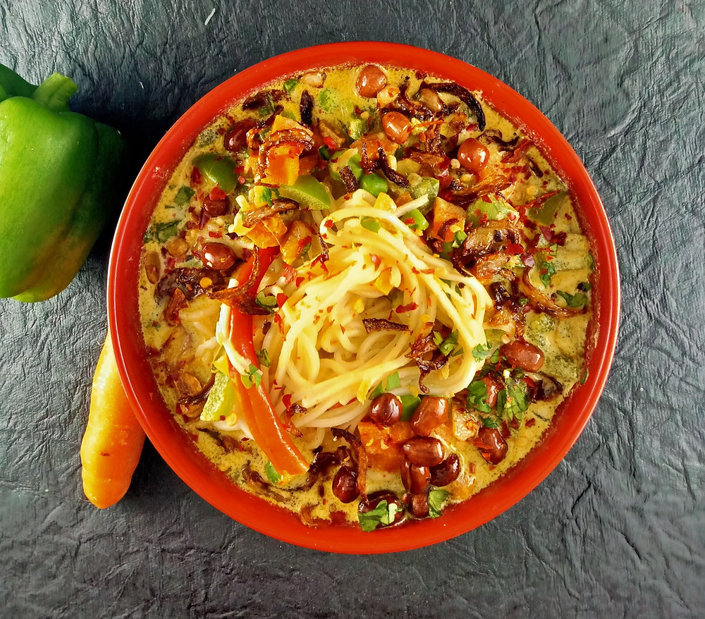 Khow Suey Burmese Noodles recipe