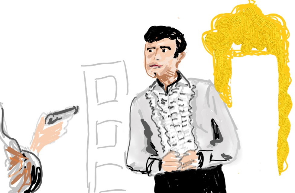 Hand drawn James Bond character