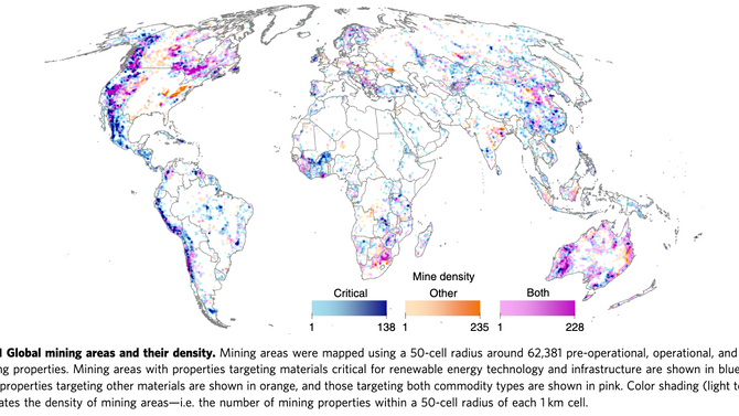 Renewable energy production will exacerbate mining threats to biodiversity