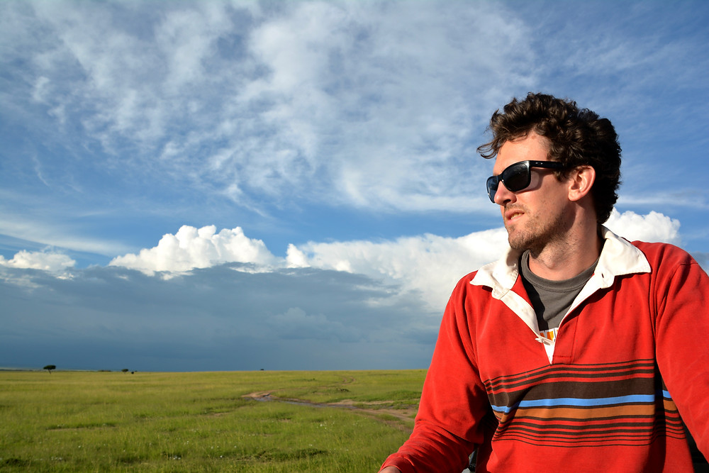 James Allan in the Serengeti National Park, a Natural World Heritage site in Tanzania