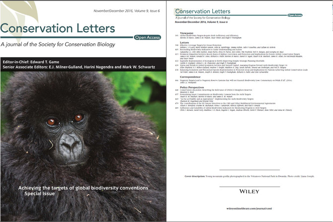 Special Issue: Achieving the targets of global biodiversity conventions