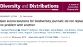 Open access solutions for biodiversity journals: Do not replace one problem with another