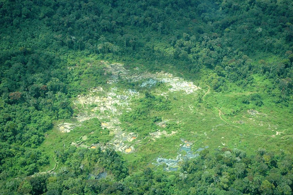 Illegal mining in Kahuzi Biega National Park DRC (credit A.K. Plumptre)