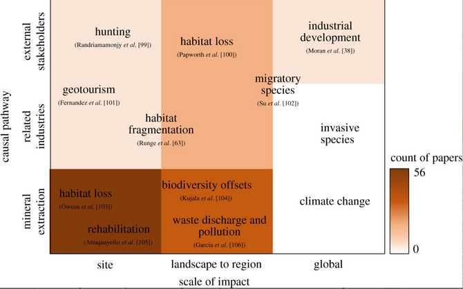 Mining and biodiversity: key issues and research needs in conservation science