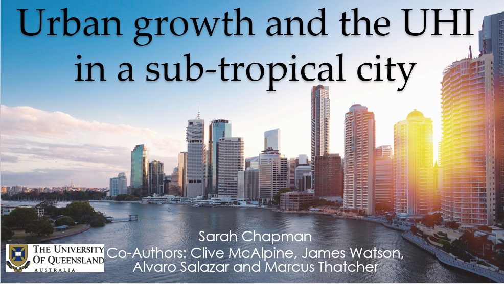 Urban growth and the UHI in a sub-tropical city