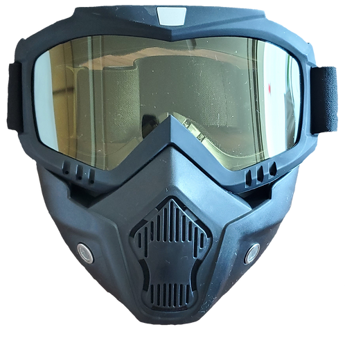 Máscara de protección  casco abierto