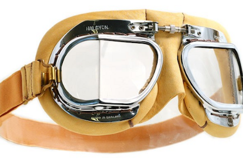 Mark 49 leather Compact Goggles-Tan
