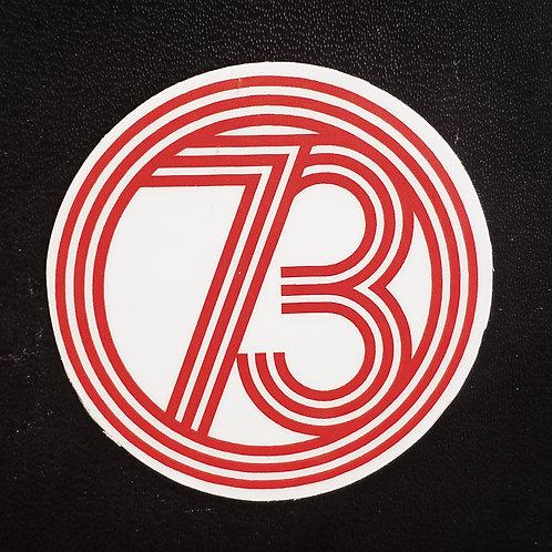 Estampa 73 en color rojo
