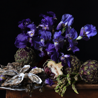 Composition with irises, oysters and artichokes/Композиция с ирисами, устрицами и артишоками