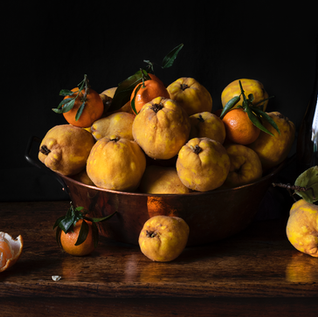 Composition with quince and mandarins /Композиция с айвой и мандаринами