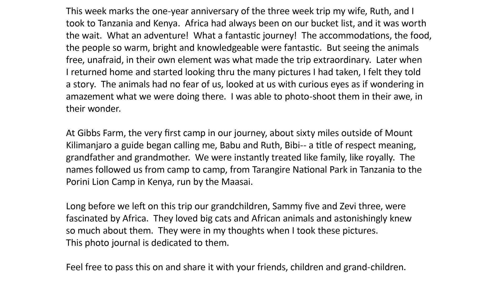 Babu & Bibi Go to Africa