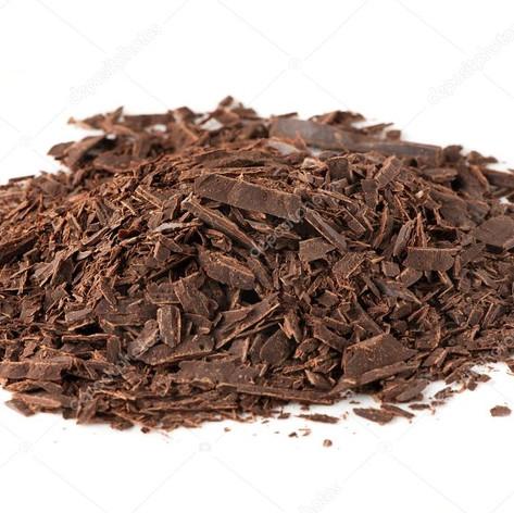 Coarsly chopped chocolate
