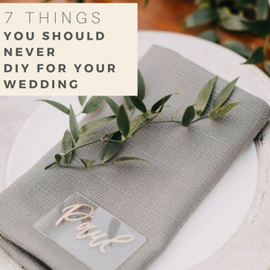Wedding DIY don'ts