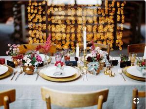 Bohemian estate table centerpieces