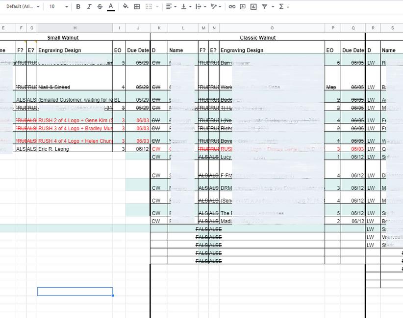 Legacy Spreadsheet