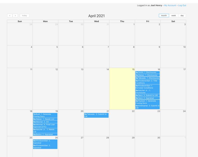 Knack Calendar