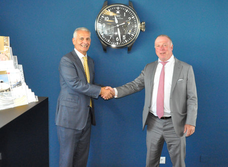 Air Service Basel collaborates with Mezger and IWC for exclusive client event
