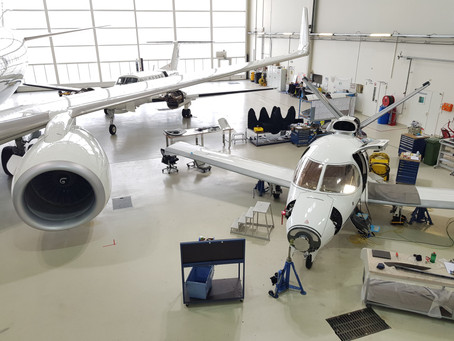 First Vision Jet SF50 100 Hours Inspection at Air Service Basel