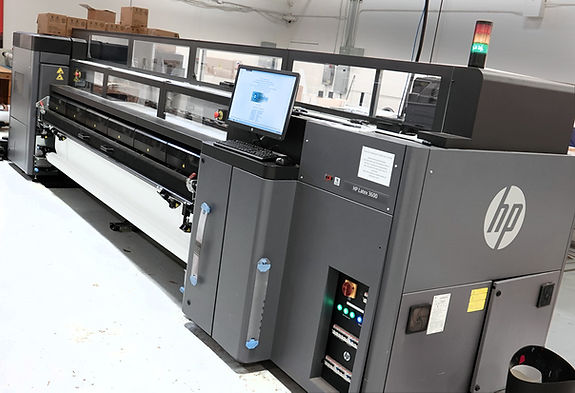 Wide Format HP Latex Printer On Our Production Floor
