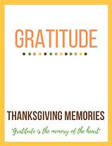 Thanksgiving Gratitude Memory Book Cover