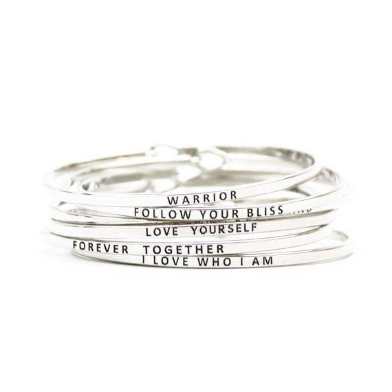 Mantra Bands Jewelry with Inspirational Words