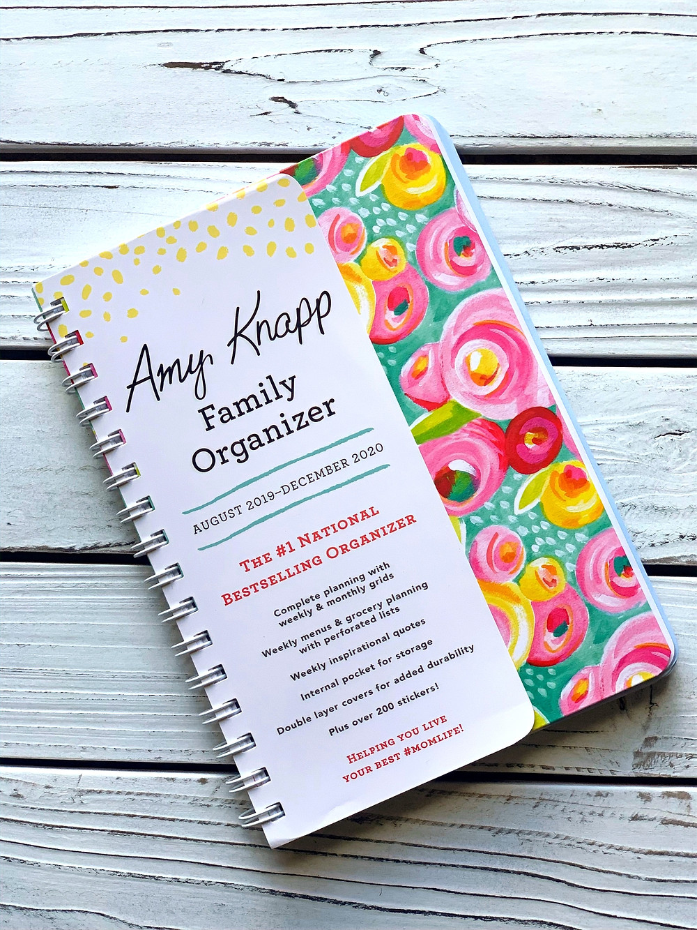 Amy Knapp Spiral Family Organizer Planner Calendar