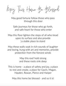 Home blessing poem