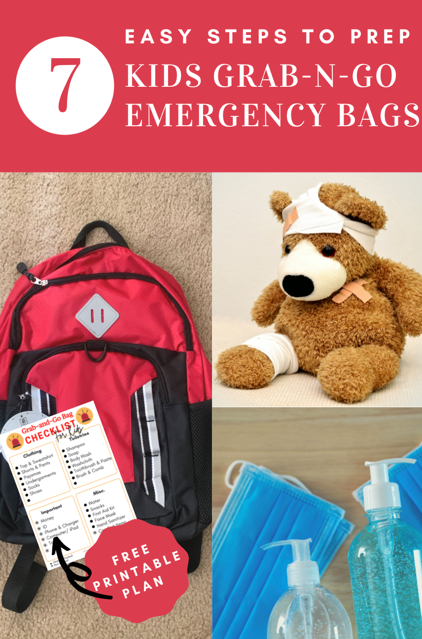 7 Steps to Prep Kids Emergency Bags Backpacks