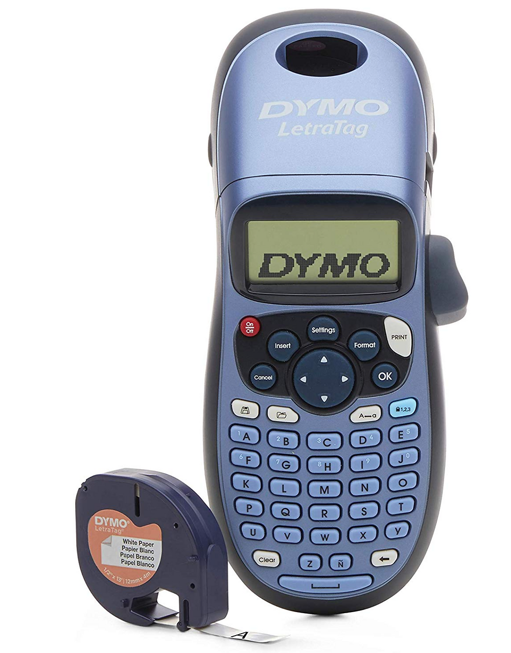 Blue DYMO Label Maker