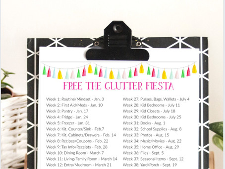 """Get Your Home & Life Organized in 52 Weeks with the 2021 """"Free the Clutter Fiesta"""""""