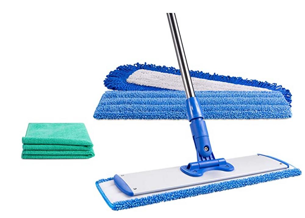 Microfiber dust floor mop