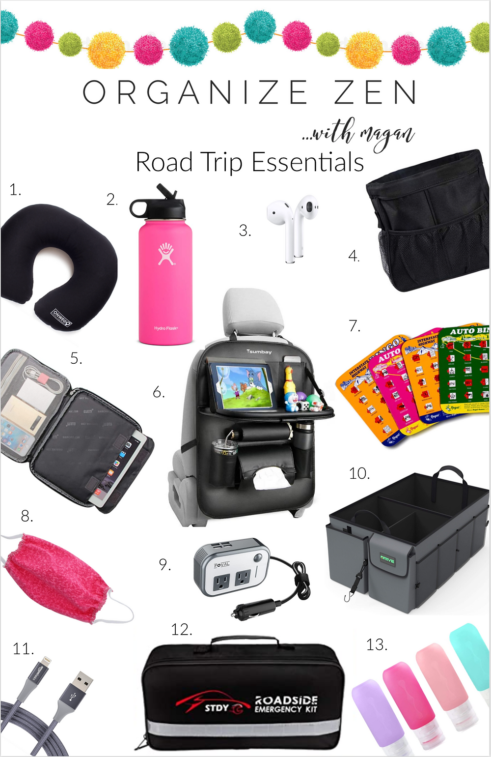 Photos and List of Road Trip Essentials