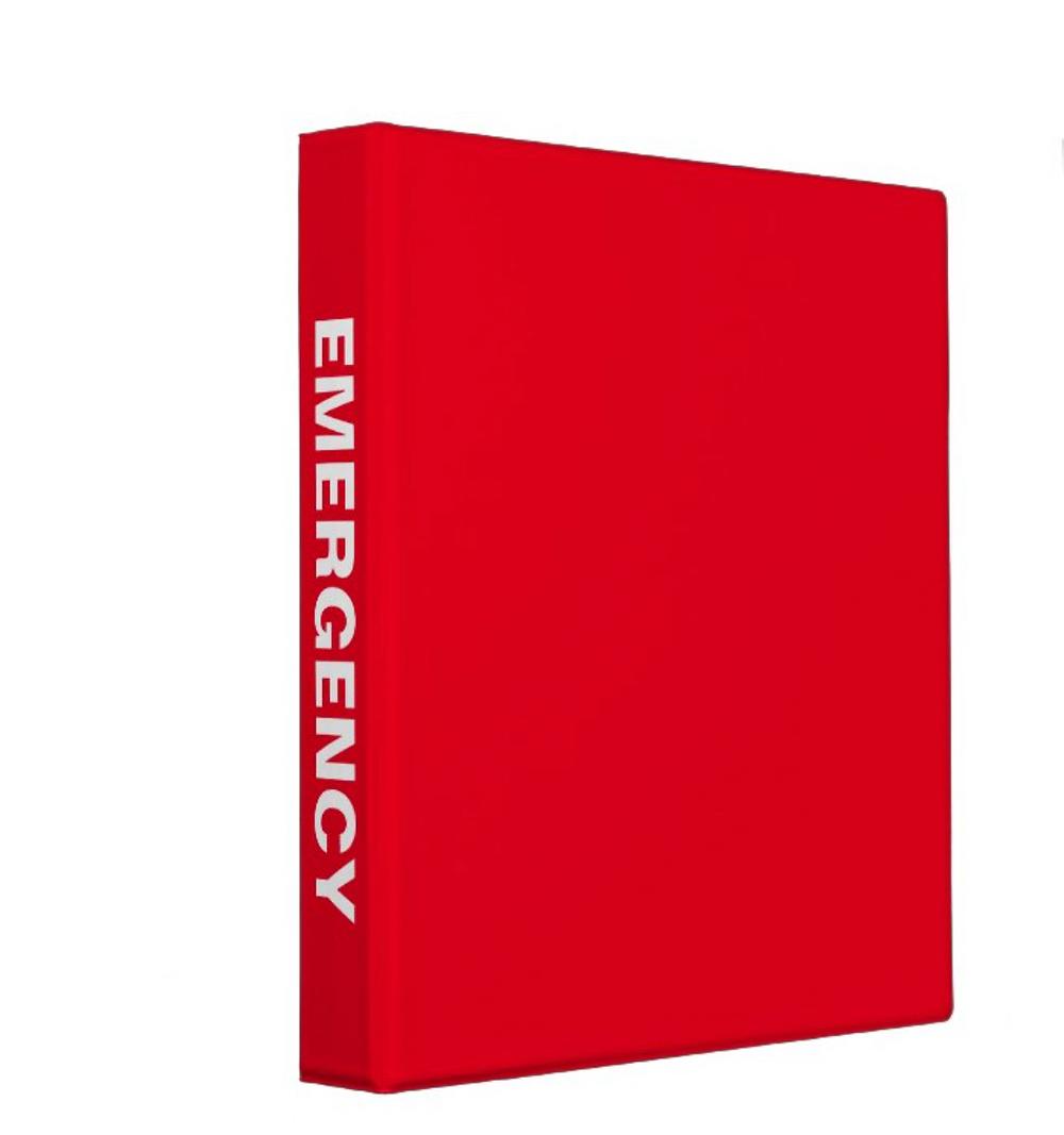 Red Emergency Binder