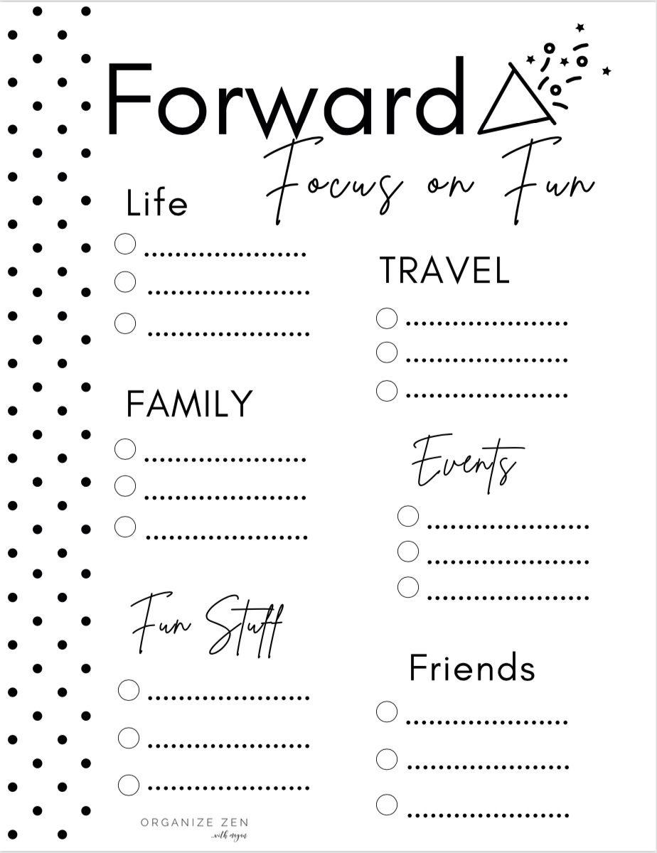 Printable Forward Focus On Fun Worksheet