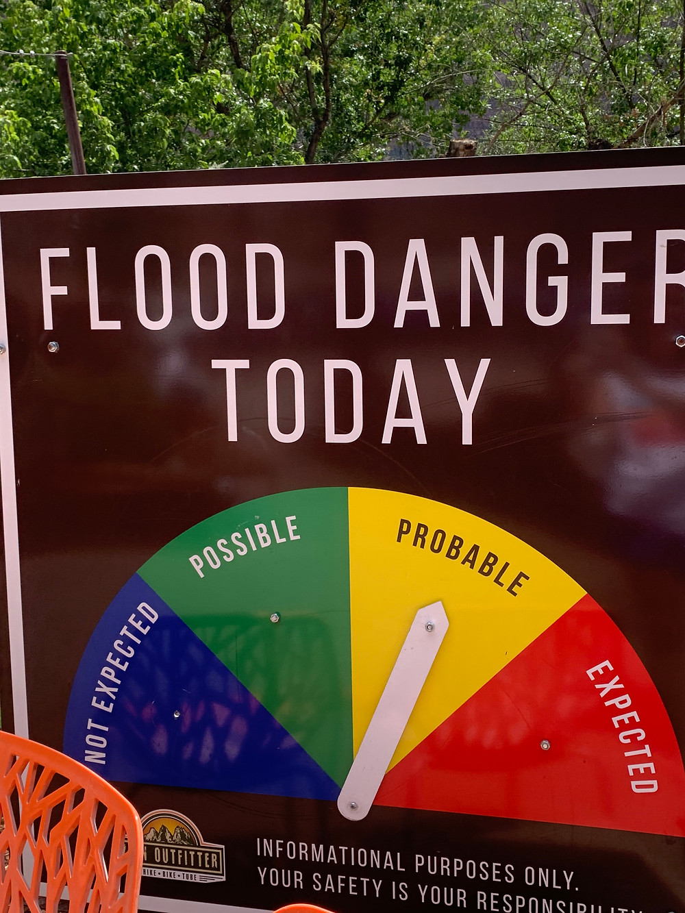 Flash Flood Danger Sign