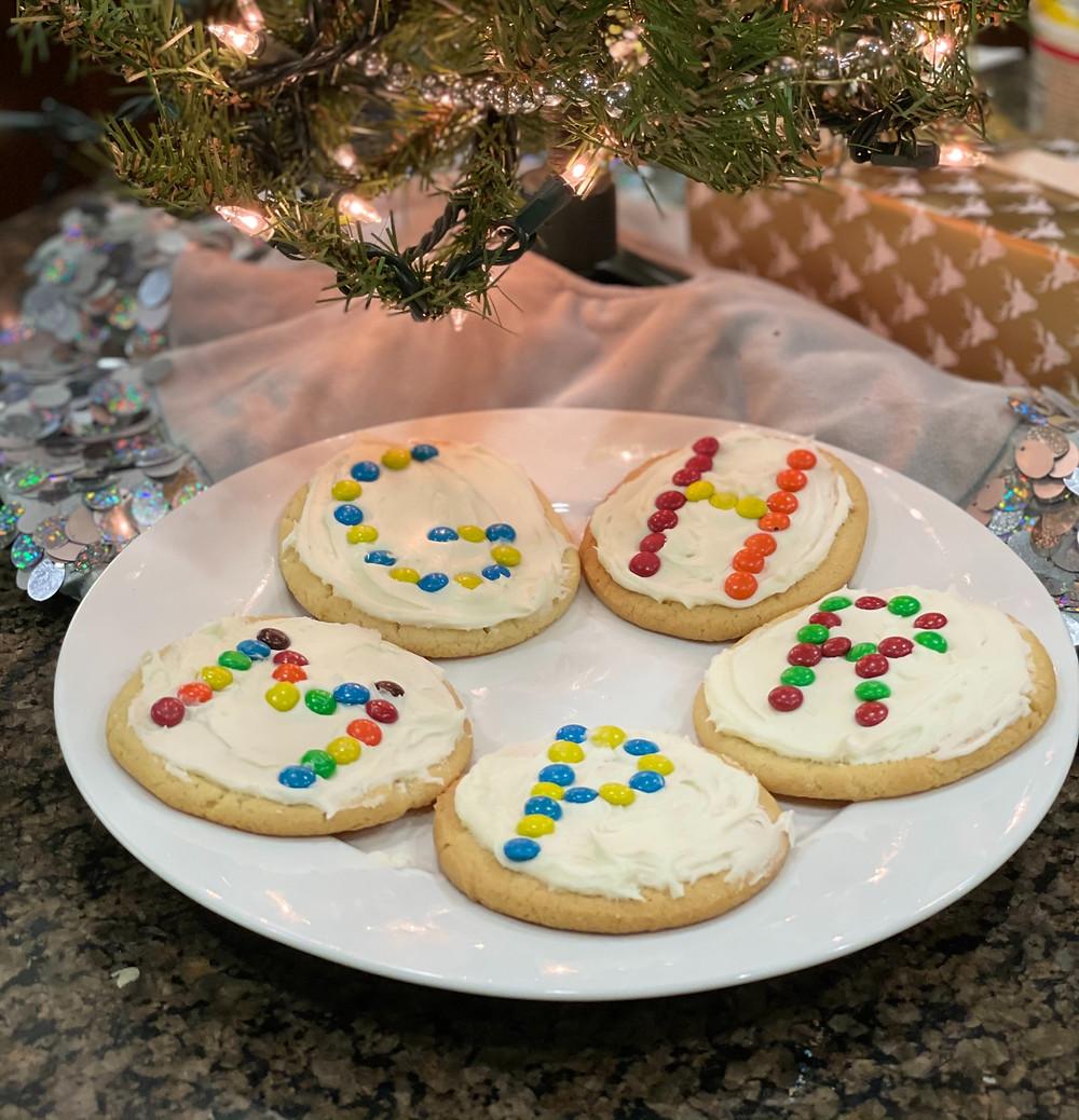 Monogrammed Christmas Cookies