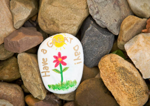 Have a great day painted kindness rock